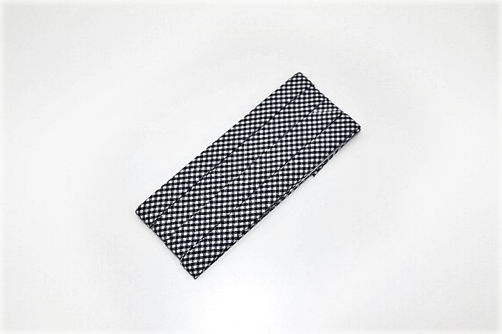 ふちどり接着12mm(黒×白チェック)