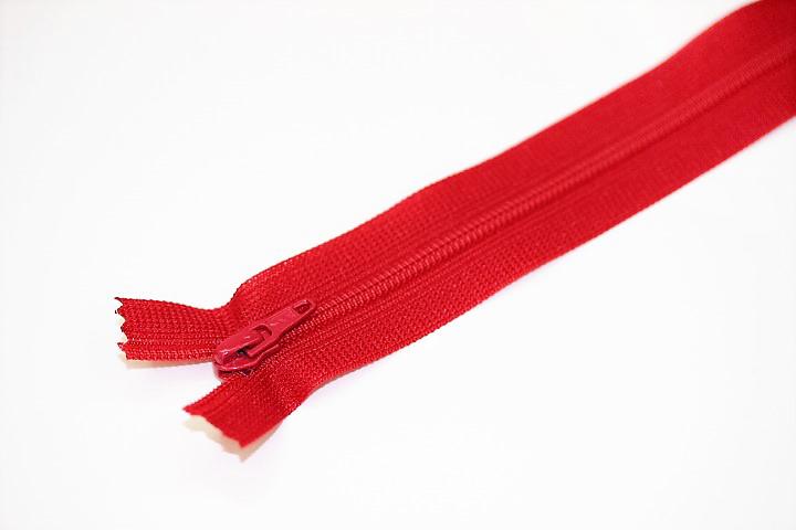 フラットニットファスナー35501(赤)