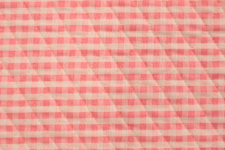 ギンガムチェックキルト ピンク 【10cmあたり】