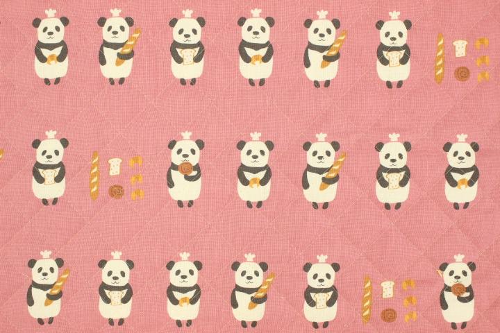 プティ・デ・ポーム キルト パンダのパン屋 ピンク【10cmあたり】
