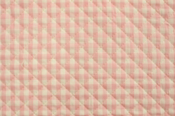 ギンガムチェックキルト ピンク【10cmあたり】