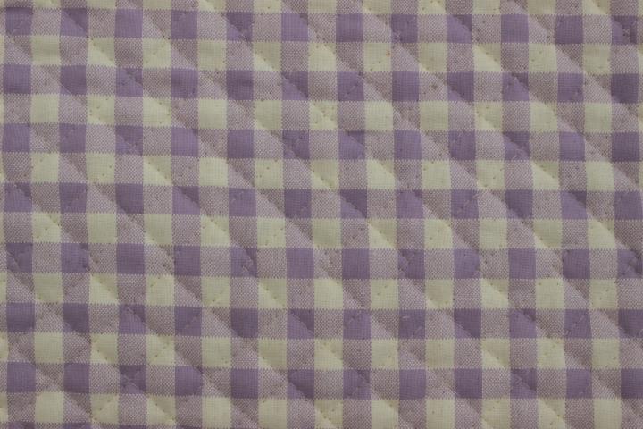 ギンガムチェック 紫【10cmあたり】