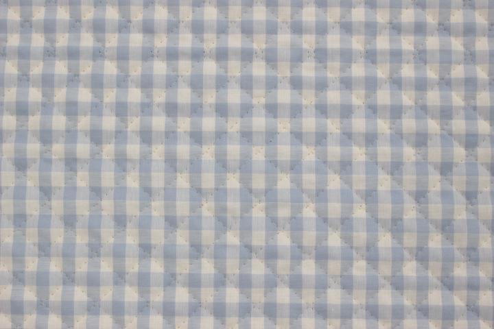 ギンガムチェックキルト サックス【10cmあたり】