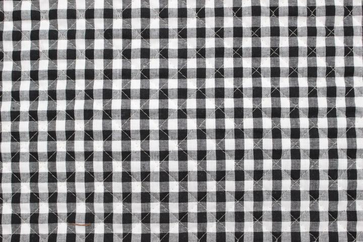 ギンガムチェックキルト 黒【10cmあたり】